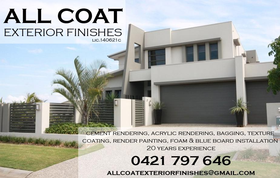 All Coast Exterior Finishes - 0421 787 646  Rendering - Newcastle  Renderer - Newcastle  Cement Rendering - Newcastle  Rendering Services -  Newcastle