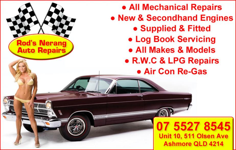 Rod's Nerang Auto Repairs are your number 1 mechanics for Ashmore and surrounding areas. Rod's Nerang Auto Repairs specialise in all mechanical repairs as well as car servicing. Give Rod's Nerang Auto Repairs at Ashmore a call today on 07 5527 8545.