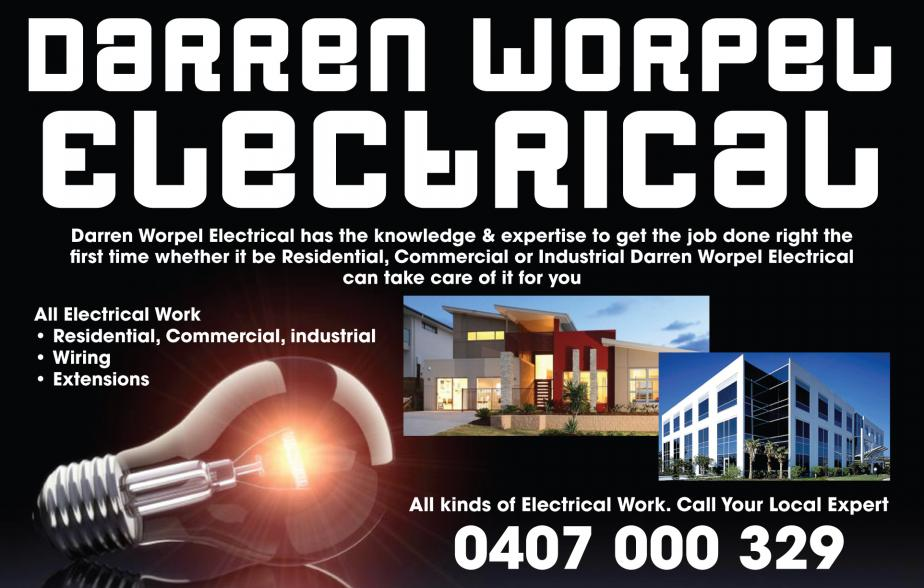 For an electrician who can attend to all of your electrical needs in the areas of Hamilton, Islington, Adamstown, Lambton, Maryland, Wallsend, Jesmond, Elermore Vale, Kotara, Charlestown, Cardiff, Edgeworth, Cameron Park give the local electrician Darren Worpel Electrical a call on 0407 000 329 to attend to all of your electrical needs
