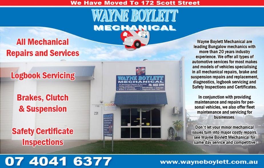 Wayne Boylett Mechanical - (07) 4041 6377  Mechanic - Cairns  Mechanics - Cairns  Mechanical Repairs - Cairns