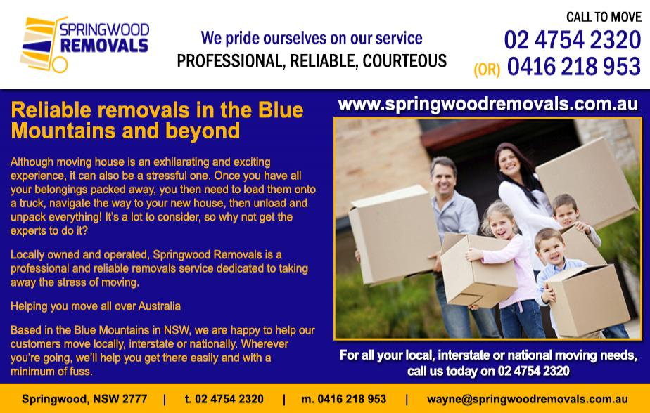 Springwood Removals - 0416 218 953  Removals - Blue Mountains  Removalist - Blue Mountains  Furniture Removals - Blue Mountains  Furniture Removalist - Blue Mountains