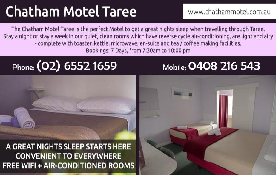 Chatham Motel - 02 6552 1659  Accommodation - Taree, Wingham, Chatham