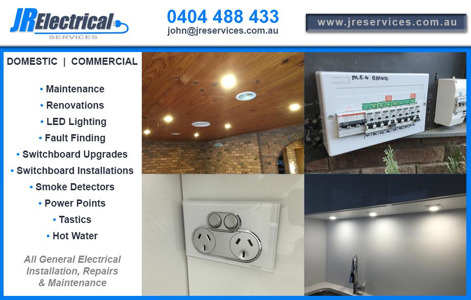 JR Electrical Services - 0404 488 433  Electrician Belconnen