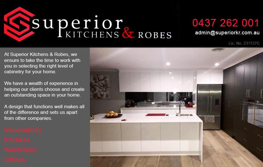 Superior Kitchens and Robes - 0437 262 001  Kitchens - Wagga Wagga  Kitchen Installations - Wagga Wagga  Kitchen Renovations - Wagga Wagga