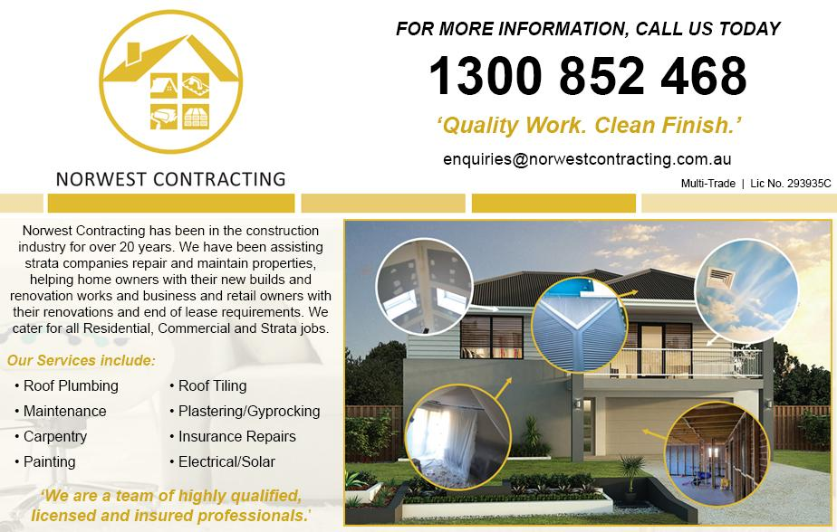 Norwest Contracting Australia Pty Ltd- 1300 852 468  Painter Hills District Roofer Northern Beaches Roofing Northern Beaches