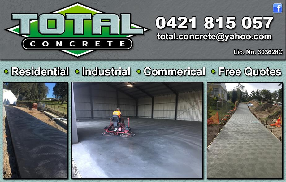 Total Concrete- 0421 815 057  Concreter - Windsor, Clarendon, Pitt Town, Riverstone, Richmond, Llandilo, North Richmond, Castlereagh, South Windsor  Concreting - Windsor, Clarendon, Pitt Town, Riverstone, Richmond, Llandilo, North Richmond, Castlereagh, South Windsor