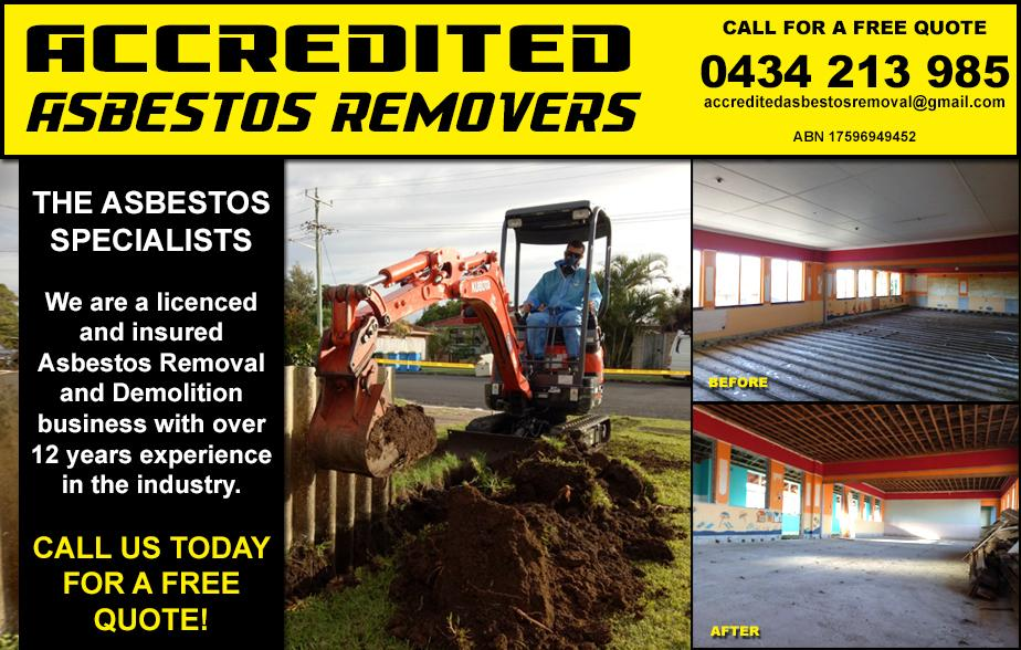 Accredited Asbestos Removers- 0434 213 985  Asbestos Removal- Lismore, Casino, Goonellabah, Kyogle, Coraki, McKees Hill, Caniaba, Bex Hill, Clunes