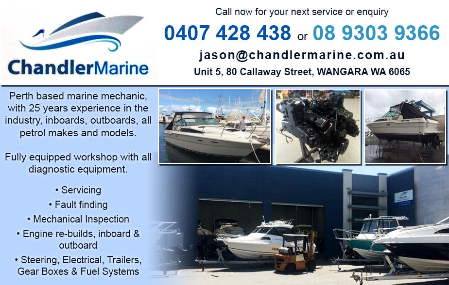 Chandler Marine Services- 0407 428 438  Boat Mechanic- Perth