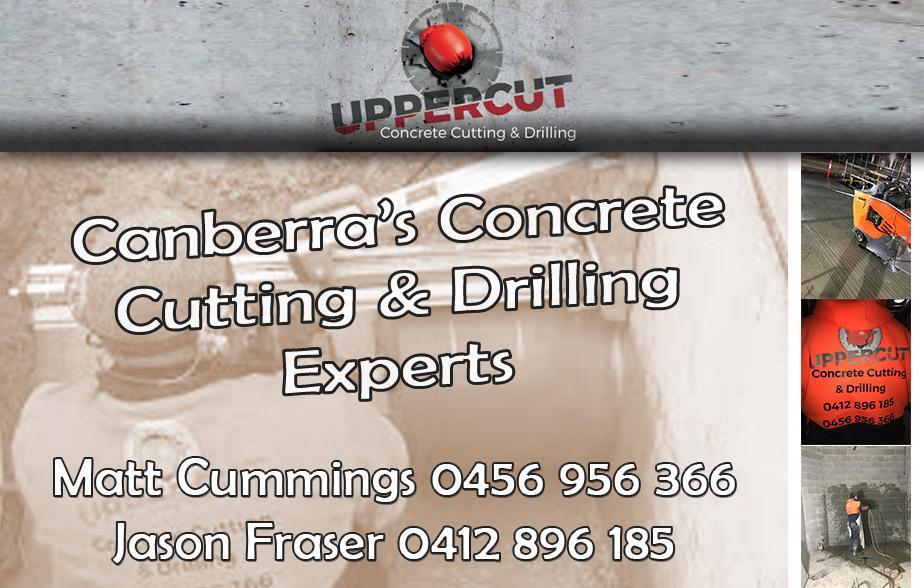 Uppercut Concrete Cutting and Drilling- 0456 956 366  Concrete Cutting- Canberra Concrete Drilling- Canberra