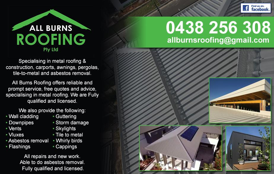 All Burns Roofing- 0438 256 308  Roofing- Sutherland Shire Roofer- Sutherland Shire