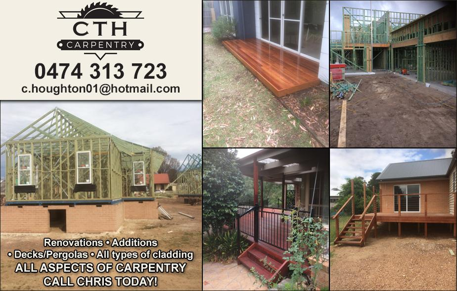 CTH Carpentry- 0474 313 723  Carpenter- Jervis Bay, Sanctuary Point, Sussex Inlet, Currajong, Vincentia, Callala Beach, Huskisson, Basin View