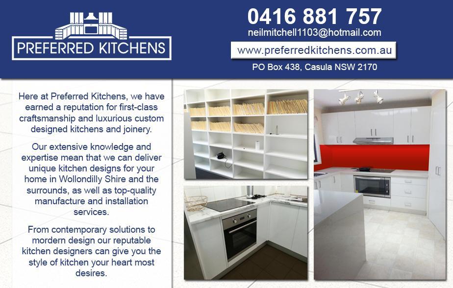 Preferred Kitchens- 0416 881 757  Kitchens- Campbelltown, Leumeah, Rosemeadow, Ambarvale  Kitchen Installation- Campbelltown, Leumeah, Rosemeadow, Ambarvale  Kitchen Renovations- Campbelltown, Leumeah, Rosemeadow, Ambarvale
