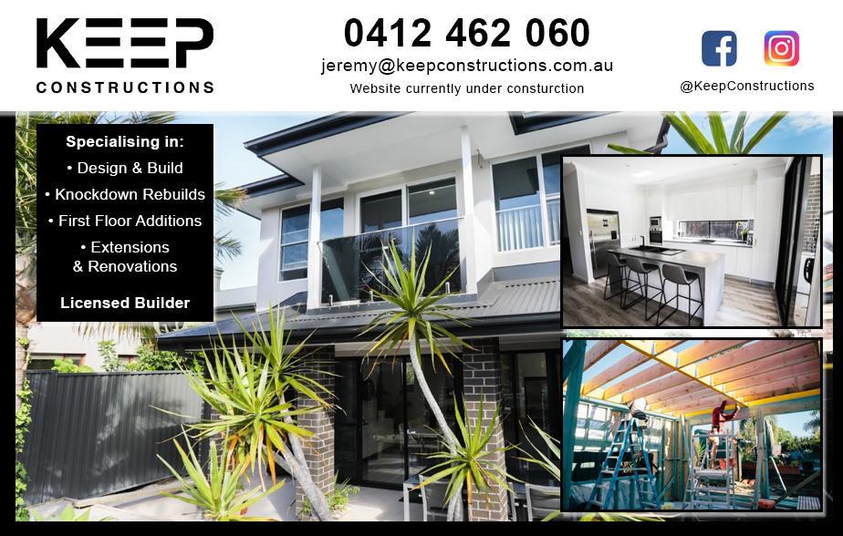 Keep Constructions P/L- 0412 462 060  Builder- Sandringham, Beverley Park, Kogarah, Monterey, San Souci, St George, Bexley, Brighton Le Sands, Rockdale, Banksia