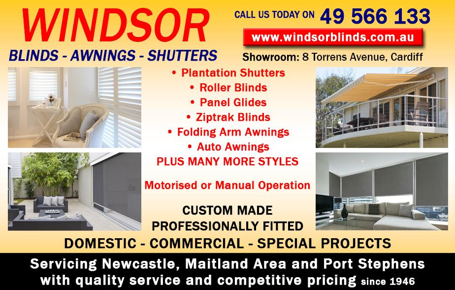 Windsor Blinds Awnings- 4956 6133  Blinds- Newcastle  Shutters- Newcastle  Awnings- Newcastle