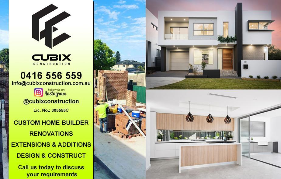 Cubix Construction- 0416 556 559  Builder- Sutherland