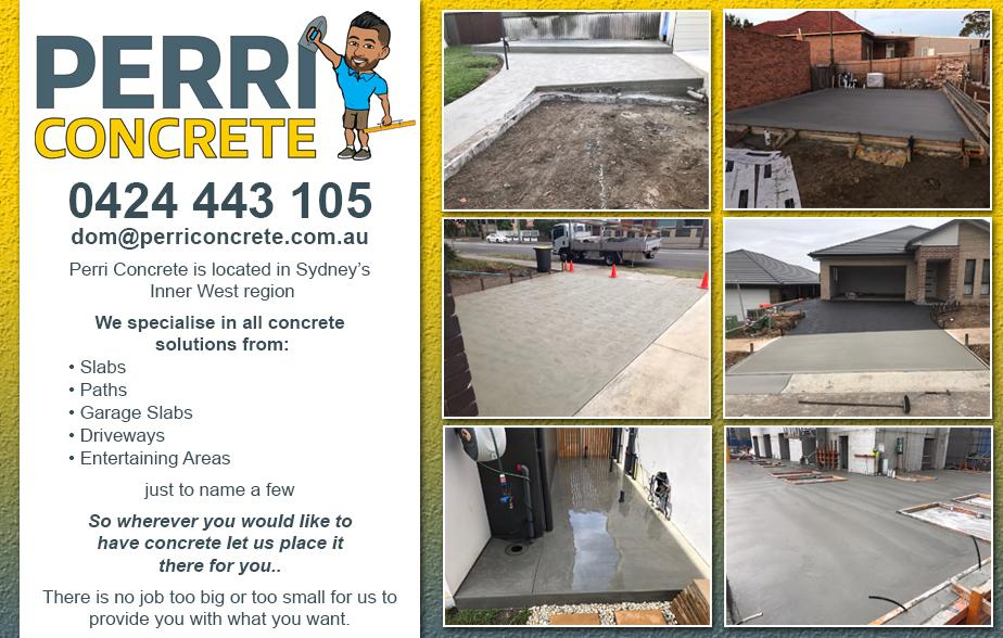 Perri Concrete- 0424 443 105  Concreter- Padstow, Panania, Riverwood, Padstow Heights, Picnic Point, Greenacre, Wiley Park, Roselands