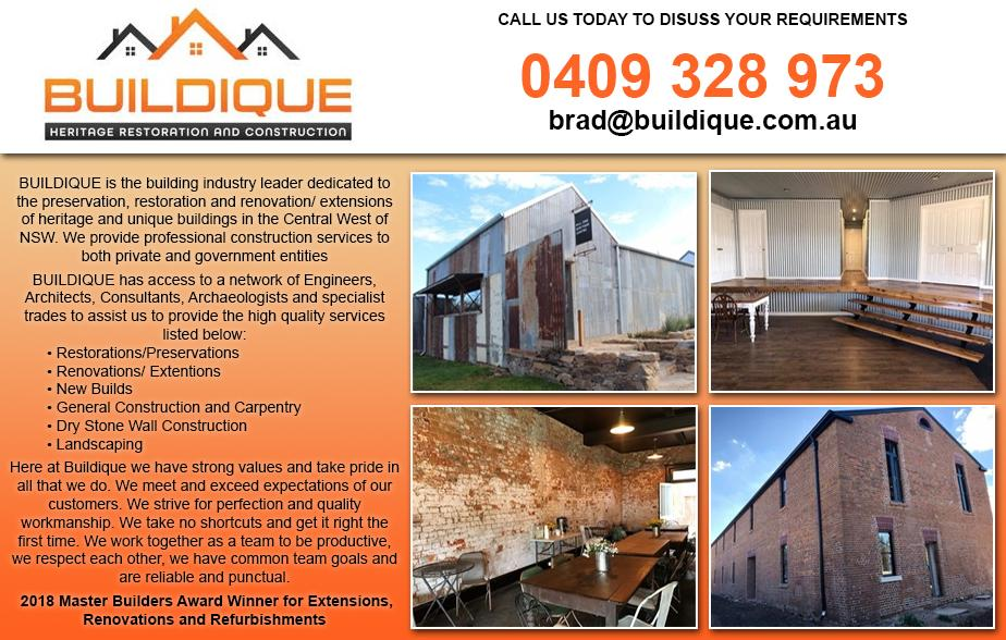 Buildique- 0409 328 973  Builder- Mudgee