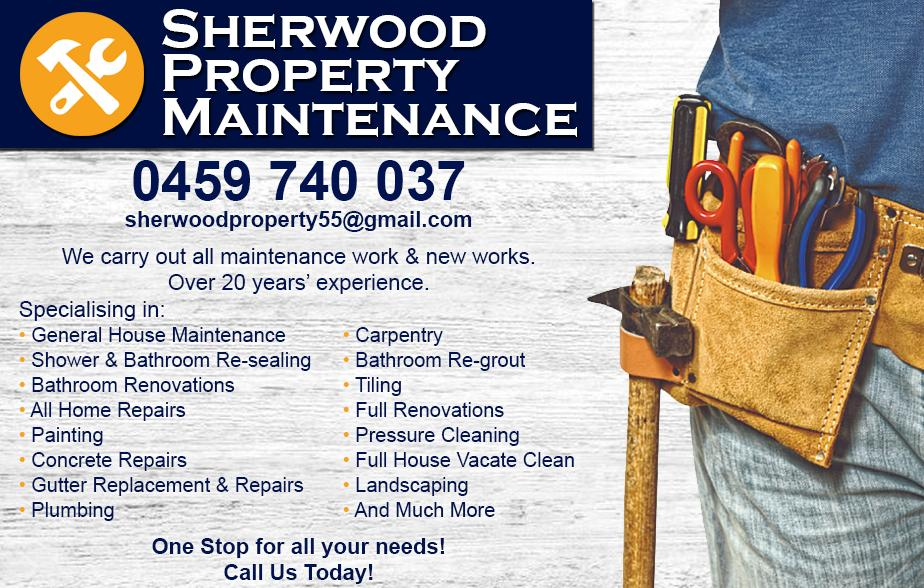 Sherwood Property- 0459 740 037  Maintenance- Epping, Thomastown, Lalor, Mill Park, Bundoora, Watsonia North, Watsonia, Greensborough  Property Maintenance- Epping, Thomastown, Lalor, Mill Park, Bundoora, Watsonia North, Watsonia, Greensborough