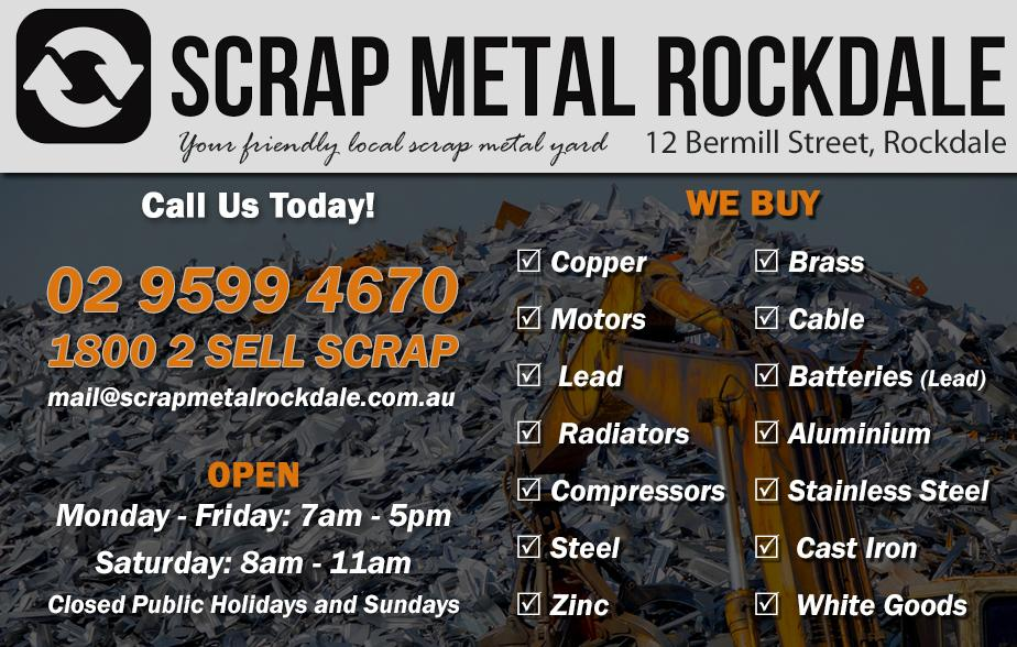 Scrap Metal Rockdale- 9599 4670  Scrap Metal Rockdale