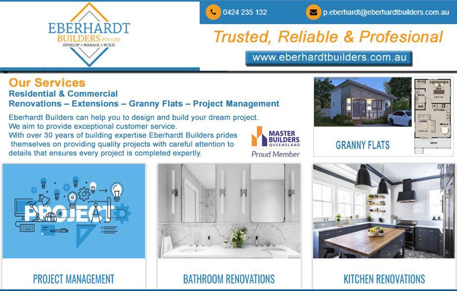 Eberhardt Builders- 0424 235 132  Builder- Scarborough, Redcliffe, Margate, Clontarf, North Lakes, Murrumba Downs, Mango Hill, Narangba