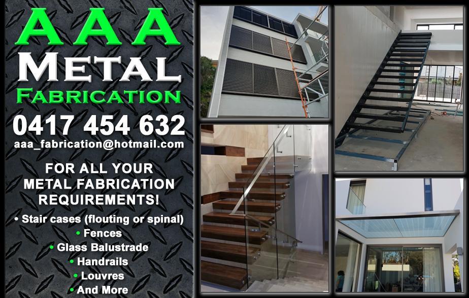 AAA Metal Fabrication - 0417 454 632  Metal Fabrication Campbelltown Balustrades Campbelltown Glazier Campbelltown