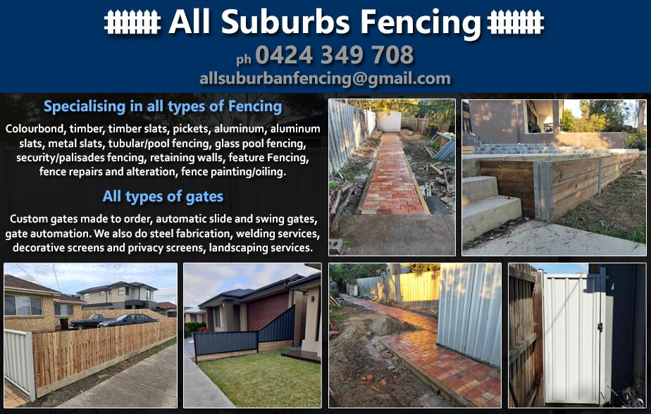 All Suburbs Fencing- 0424 349 708  Fencing- South Morang, Epping, Thomastown, Lalor, Mill Park, Bundoora, Watsonia North, Watsonia, Greensborough  Pool Fencing- South Morang, Epping, Thomastown, Lalor, Mill Park, Bundoora, Watsonia North, Watsonia, Greensborough  Fencer- South Morang, Epping, Thomastown, Lalor, Mill Park, Bundoora, Watsonia North, Watsonia, Greensborough