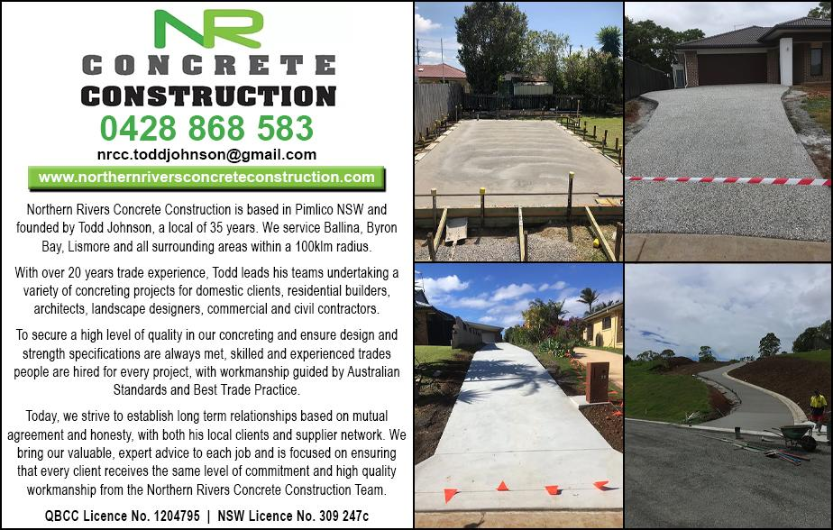 Northern Rivers Concrete Construction- 0428 868 583  Concreter- Lennox Head, Ballina, Skinners Head, East Ballina, Alstonville, Wollongbar