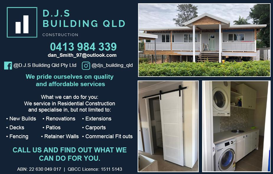 DJS Building Qld- 0413 984 339  Builder- Coopers Plains, Acacia Ridge, Sunnybank Hills, Sunnybank, Algester, Browns Plains, Heritage Park, Regents Park, Boronia Heights, Greenbank