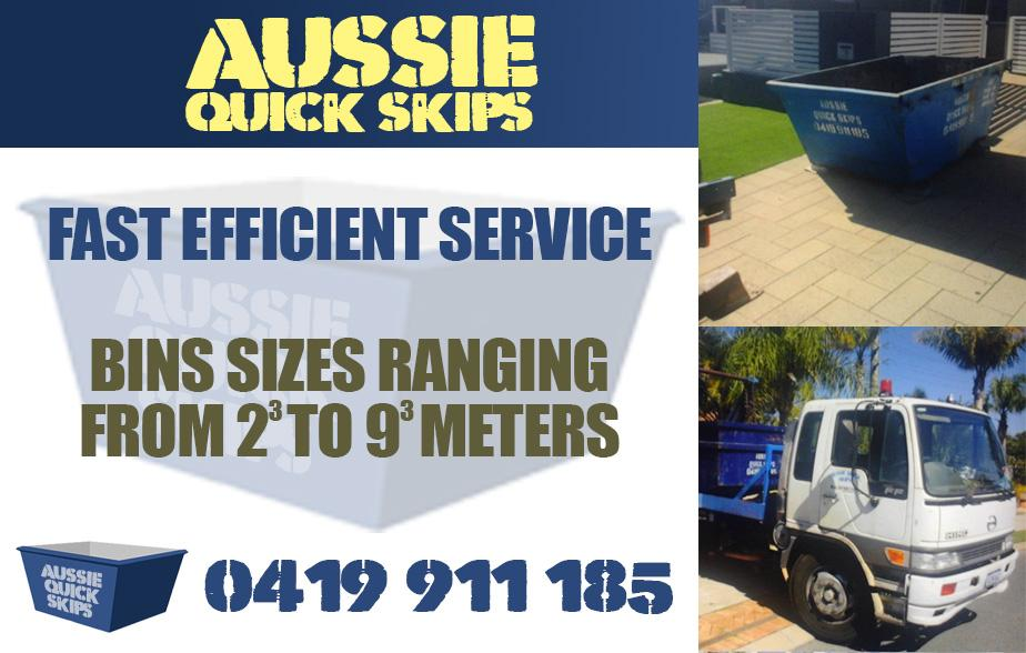 Aussie Quick Skips- 0419 911 185  Skip Bins- Applecross, Manning, Salter Point, South Perth, Como, Waterford, Kensington, Redcliffe, Belmont, Rivervale, Burswood, Victoria Park, Kewdale, Lathlain, Carlisle, St James